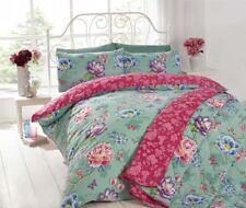 Linge de lit et ensembles bleus coton mélangé à motif Floral