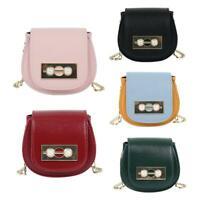 Pearl Decor Mini Kids Shoulder Handbags Women Leather Crossbody Saddle Bags Tote