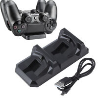 Dual USB Charger Station Dock Fast Charging Stand For Playstation PS4 Controller