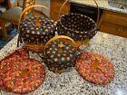 Longaberger 1997 Large Halloween Pumpkin Basket Combo Basket lid. 3 baskets