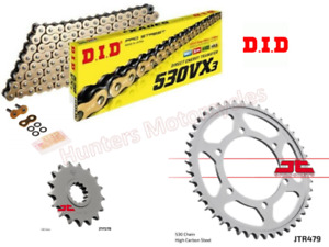 Yamaha YZF R1 (2004 & 2005 Model) DID Gold X-Ring Chain and JT Sprockets Kit Set