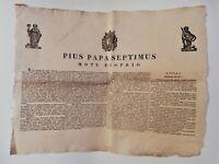Bando Motu Proprio Pio VII sanità marittima navigazione 231 art.25 novembre 1818