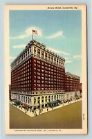 Louisville KY, Brown Hotel, Kentucky Linen Postcard