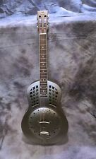More details for duolian resonator guitar - steel finished brass body