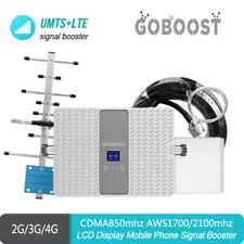 2G 3G LTE 4G CDMA850 AWS1700/2100mhz Dual Band4/5 Signal Booster Repeater Yagi