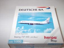 """Herpa Wings 511513 Deutsche BA Boeing 737 - 300 """" Schrifttanz """"  mit OVP 1:500"""