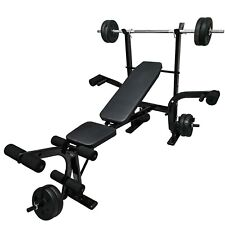 Adjustable Incline Weight Bench Barbell Lifting Press Gym Equipment Exercise
