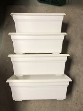 Countryside Flower Box Planter White 18 Inch Rectangle Made In Usa Used