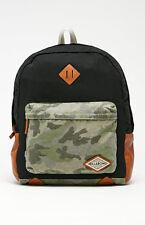 New Billabong Hidden Trek Camo Black Book Bag Backpack