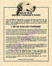 Rules In An English Foxhound's House