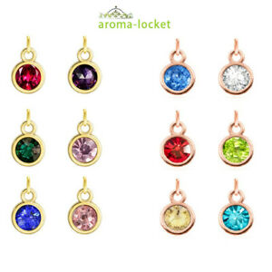 12pcs 7*10mm Birthstone Hang Pendant Charms Fit Necklace Phone Strip Free Ship