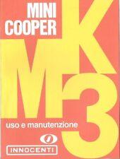Innocenti Mini Cooper 1000 Mk 3 Libretto uso e manutenzione Copia Anastatica