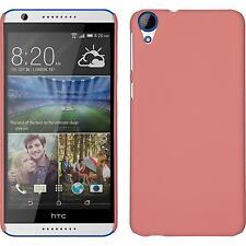 Funda Rígida HTC Desire 820 - goma rosa + protector de pantalla