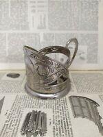 RARE Vintage Podstakannik USSR  Tea Glass Cup Holder Zaporozhye