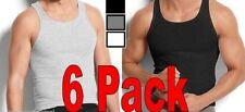 6 MENS Dark Color Tank Top Wife Beater A-Shirts 3XL Ribbed 100 % Cotton 3XL