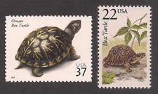 Ornate Box Turtle - Set Of 2 U.S. Postage Stamps - Mint Condition