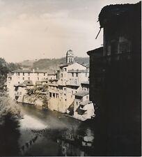 PONT EN ROYAN c. 1938 - Maisons au bord de l'Eau Le Clocher Isère - NV 493