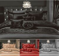 New CASABLANCA EMBROIDERY Polyester Duvet Quilt Cover Set,Or BedSpread / Curtain