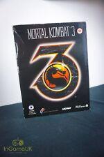 Mortal Kombat 3 (Pc Cd-Rom, 1995) Jeu Complet en Grand Boîte avec Livre / Manuel