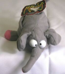 """Vintage """"Bart"""" The Elephant Meanie Babies Twisted Toys Plush - Series 1 with TAG"""
