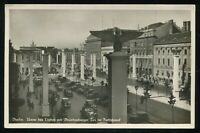 WW2 Germany 3rd Reich Postcard German Hitler Berlin Boulevard RPPC Used 1937