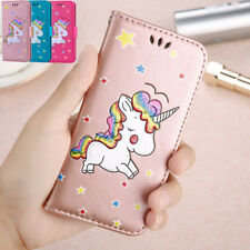 Unicorn Shockproof Luxury Magnetic Glitter Leather Flip Wallet Cover Phone Case