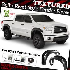 4PCs Pocket-Riveted Paintable Textured Fender Flares For 2007-2013 TOYOTA TUNDRA