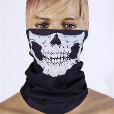 Unisex Skull Half Face Motorcycle Headwear Scary Horror Men Halloween Mask