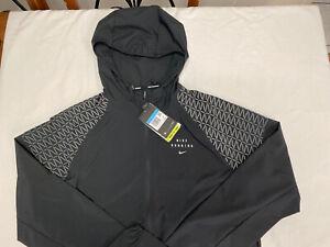 New NIKE Men's Running Jacket Standart Fit/Reflective Print/ Packable /Repel M