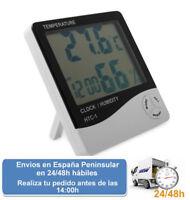 Higrometro con alarma , reloj digital y termometro (Envio express)