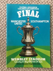 FA Cup Final - Manchester United v Southampton at Wembley in 1976