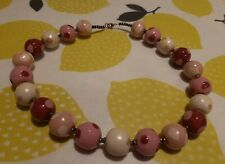 Dotty Pink Large Bead Necklace