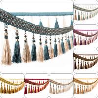 5M Curtain Trim Tassel Fringe Fringing Edging Beaded Lace Braid Sewing Crafts