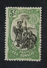CKStamps: Somali Coast Stamps Collection Scott#63 Mint H OG Wrong Color