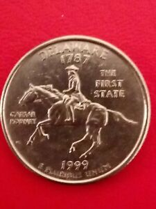 1999 US-Delaware 1787 The First State Caesar Rodney-quarter dollar coin.