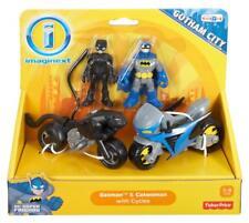Fisher-Price Imaginext DC Super Friends Gotham City Batman & Catwoman w/ Cycles