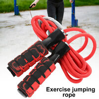 Gym Aerobic Exercise Boxing Skipping Jump Rope Adjustable Bearing Speed Charm