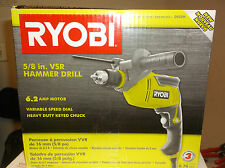 "NEW!! Ryobi D620H 6.2 Amp 5/8"" Corded Variable Speed Hammer Drill FREE SHIPPING!"
