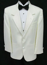 Men's Ivory Tuxedo Jacket with Satin Notch Lapels Formal Wedding Cruise Mason