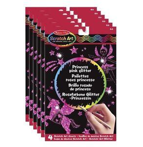 Melissa & Doug Princess Pink Glitter Scratch Art Sets   Pack of 6
