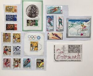 Poland 4 x Mini Sheets + 15 Stamps. Olympic Games 1972, Academy 1970, +Committee