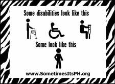 Some Disabilities - Invisible Diseases Car Decal