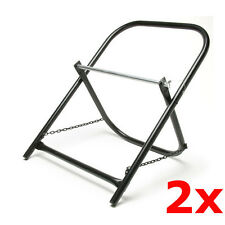 2 Pack Lot Portable Steel Folding Cable Caddy Reel Spool Holder Tube Wire Puller