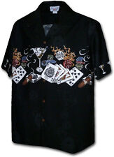 0d6217bff51f Poker Casino Hawaiian Aloha Shirt Pacific Legend Made in Hawaii 440-3700