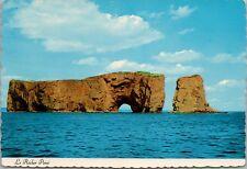 Le Rocher Perce Quebec QC Rock Unused Vintage Postcard D43