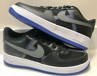 NIKE AIR FORCE 1 LV8 YOUTH SIZE 7Y BLACK RACER BLUE AV0743-002 NEW AF1