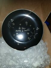 To The Moon and Back black & gold plate