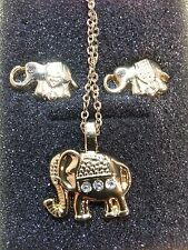 Elephant Necklace and Earrings NEW