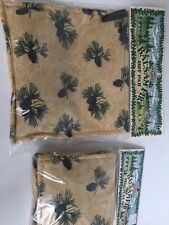 Country Scented Hot Pad And Mug Mats Set Pinecones ~ Balsam Fir Scent~ New