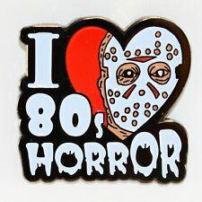 I Love 80s Horror Enamel Pin Movie Jason Halloween Gothic Punk Badge Lapel